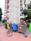 Stanovište nádob na separovaný zber odpadov v zástavbe KBV v meste Stará Turá
